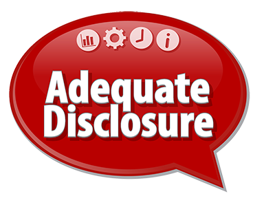Adequate Disclosure